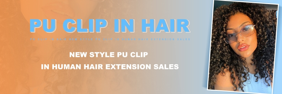Pu Clip In Hair Extensions