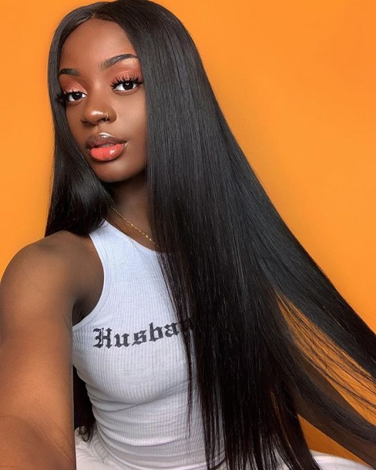Dolago Hair Wigs Brazilian Straight 4X4 Lace Closure Wigs With Baby Hair 250% High Density Human Virgin Hair Wigs No Need Any Glue