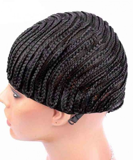 Dolago Cornrows Wig Cap With Adjustable Strap Easier To Sew In For Loss Hair