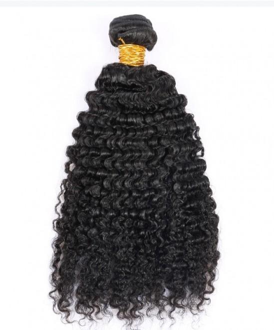 Dolago 1 pc Deep Curly Virgin Hair Weave Double Weft Human Hair Bundle