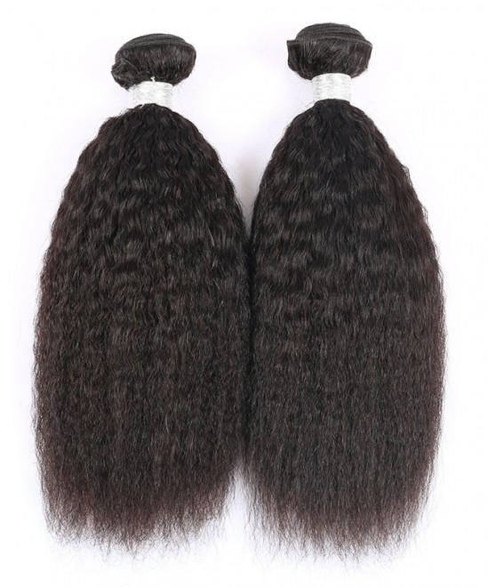 Dolago Kinky Straight Brazilian Virgin Hair 3 Pcs 100% Human Hair Weaving