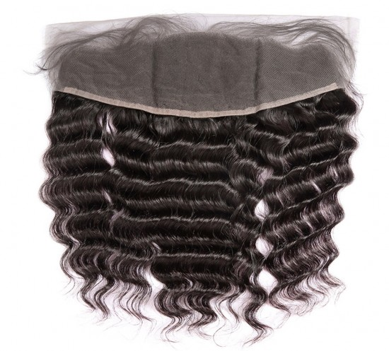 Dolago Deep Wave Human Hair 13x4 Lace Frontal Natural Color Natural Hairline