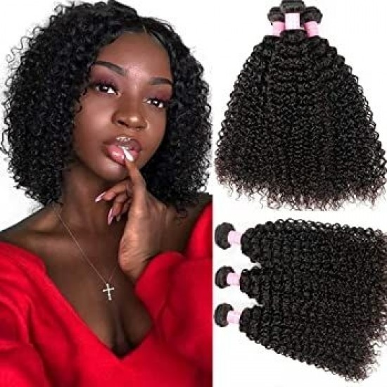 Dolago Brazilian Remy Human Hair Extensions Jerry Curly 3Pics Brazilian Curly Human Hair Weave Bundles 10-30 Inches Pretty Curly Hair Bundles Sales