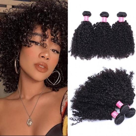 Doalgo Mink Brazilian Virgin Hair Weave Bundles Jerry Curly 3Pics Brazilian Kinky Jerry Curly Hair Bundles 10-30 Curly Human Hair Extensions Wholesale Hair