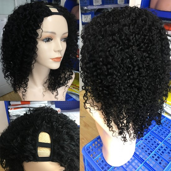 Dolago Hair Wigs For Black Women 3B 3C Kinky Curly U Part Human Hair Wigs For Black Women 180% None Lace Wigs  Dolago Hair Wigs For Black Women 3B 3C Kinky Curly U Part Human Hair Wigs For Black Women 180% None Lace Wigs  Dolago Hair Wigs For Black Women