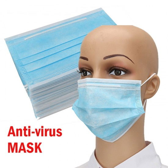 Dolago Hot Sale 50 pcs Surgical Masks Savety Face Mouth Masks Non Woven Disposable Medical Anti-Dust Surgical Medical Masks Fast And Free Shipping