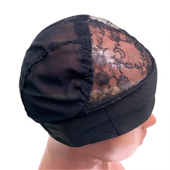 Dolago Headband Wigs Cap Spandex Net Elastic Dome Wig Cap Glueless Hair Net Wig Liner
