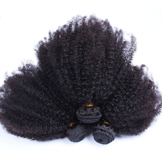 Dolago HAIR Peruvian Afro Kinky Curly Hair Weave 4B 4C 100% Natural Hair Weave 3Pieces
