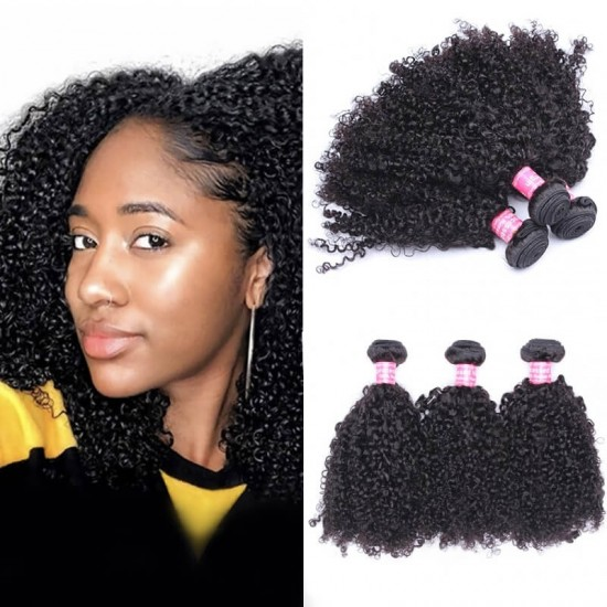 Doalgo Brazilian Virgin Hair Jerry Curly Human Hair Weave Bundles 3Pics Brazilian Jerry Curly Human Hair Extensions 10-30 Inches Curly Bundles Wholesale Hair