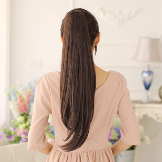 Good Quality Straight Ponytail For WomenClip In Ponytails
