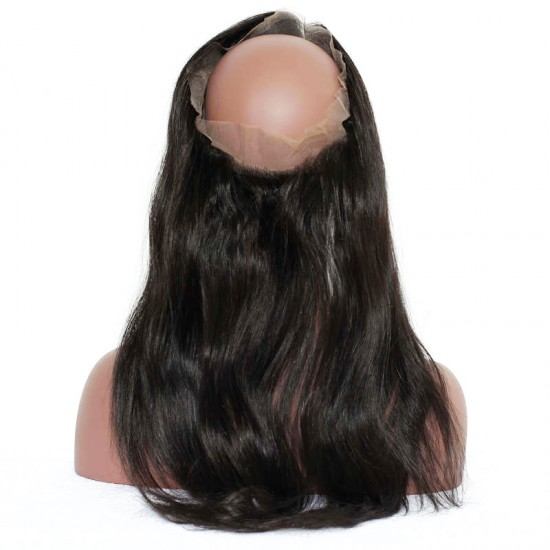 Dolago Straight Brazilian Remy Human Hair 360 Lace Frontal With Natural Hairline