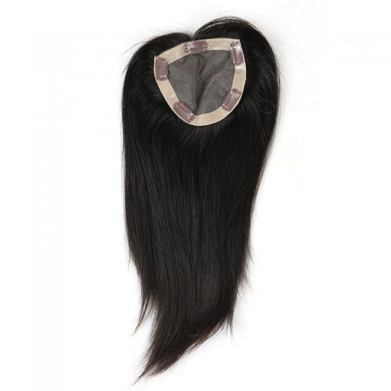 Dolago Brazilian Virgin Hair Straight Clip In Toupee Hairpieces For Women 5x5