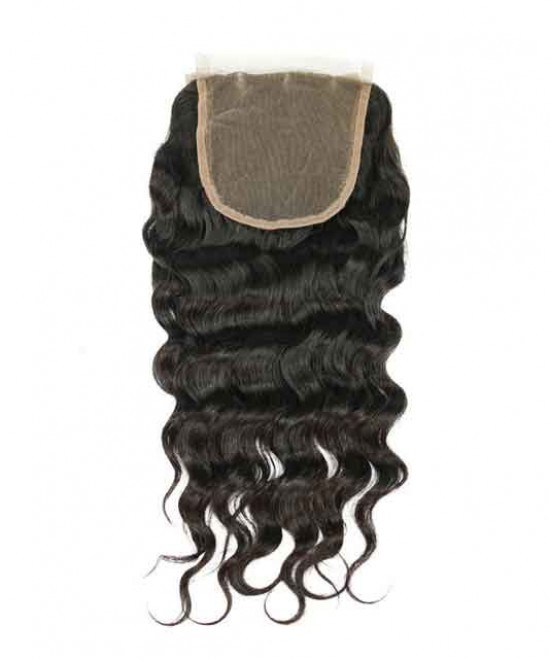 Brazilian Loose Wave Virgin Hair,lace closure,natural color