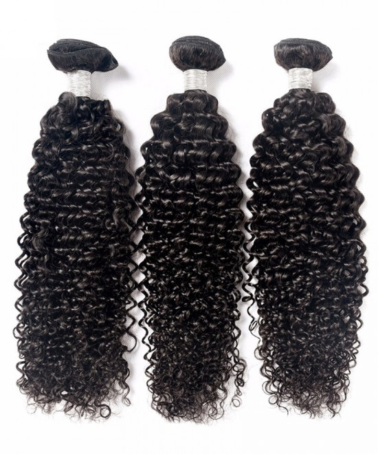 Dolago Brazilian Virgin Human Hair Weave Bundles Deep Curly 3Pcs