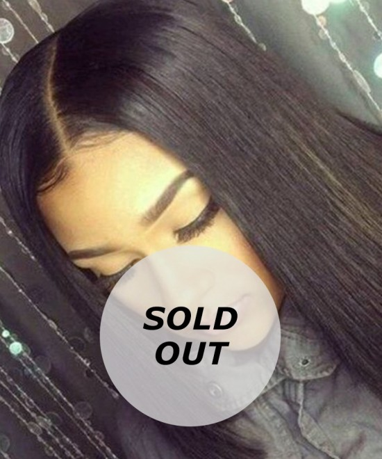 Dolago Straight Bob Lace Front Wigs Pre-Plucked 150% Density 16inch