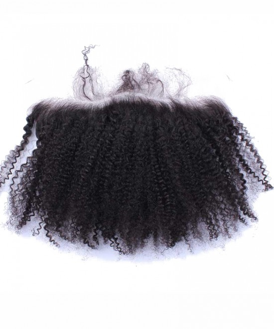Dolago Afro Kinky Curly Lace Frontal Closure 13x4 Bleached Knots