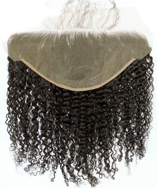 Dolago 13x6 Lace Frontal Closure Kinky Curly Brazilian Virgin Hair Ear To Ear Frontal Pre Plucked