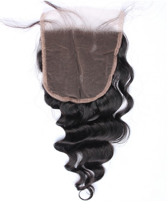 Dolago Brazilian Virgin Hair Loose Wave Human Hair Lace Closure 5x5 Lace Size
