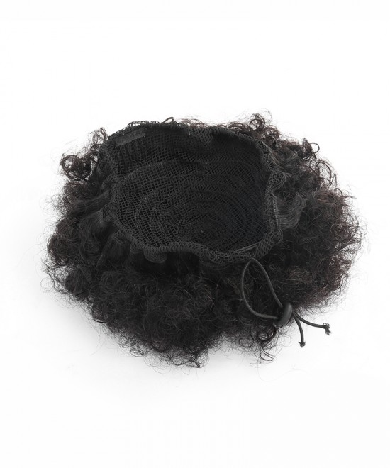 Dolago Hair Afro Ponytail Human Hair Magic Horsetail Wrap Around Ponytail Mongolian Afro Kinky Curly Clip In Human Hair Extensions