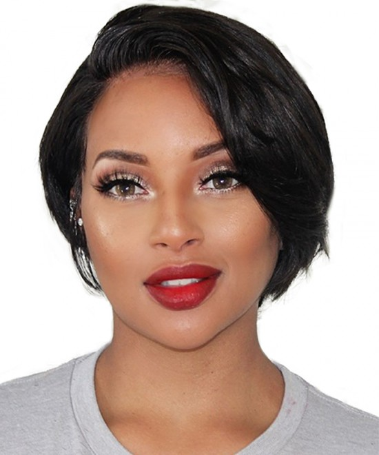 Dolago Short Bob Wig With Fake Scalp 150% Density Pixie Wig With Baby Hair 13X6 Lace Front Human Hair Wigs For Black Women