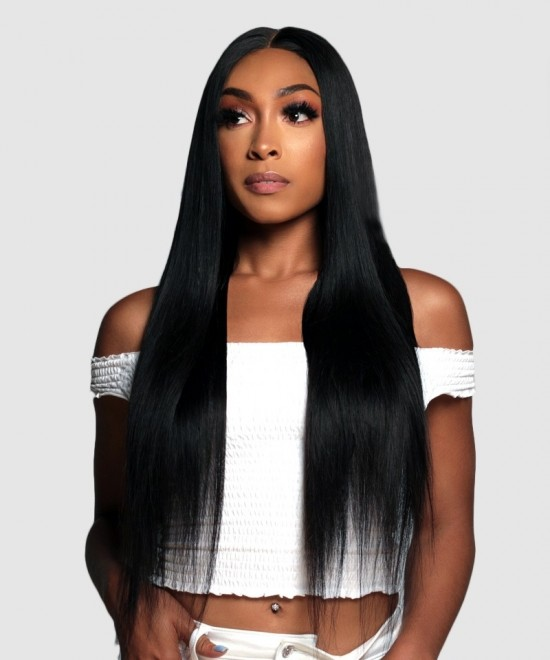 Straight 360 Lace Frontal Wig Pre Plucked With Baby Hair 180% Density