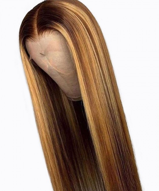 Customized Colorful 13X6 Lace Frontal Wigs Blonde Maxed