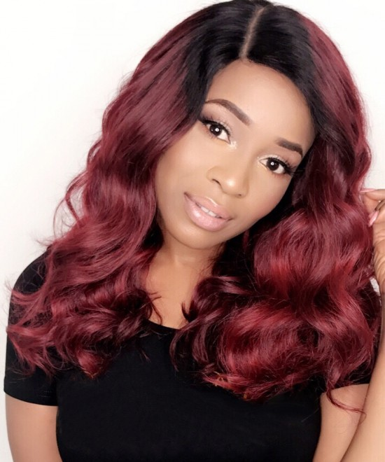 "16""1B99J Body Wave Lace Front Wig"