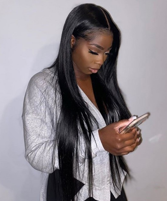 Dolago Hair Wigs Straight Full Lace Wigs 180% Density Brazilian Human Virgin Hair Wigs Pre Plucked With Baby Hair For Black Women