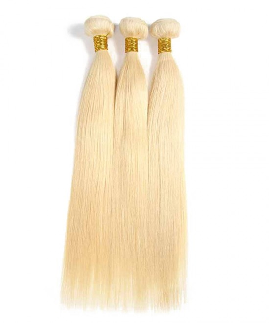 Dolago Straight 613 Blonde Brazilian Virgin Hair Bundles 100% Human Hair Weave
