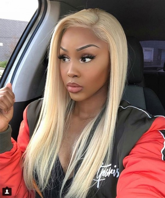 Dolago 613 Blonde Full Lace Colorful Wig Straight 130% Density