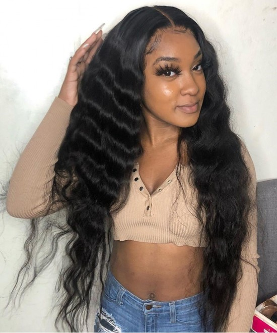 Dolago Hair Wigs Loose Wave 13x6 Deep Parting Lace Front Wigs 150% Density Human Hair Wigs Pre Plucked With Baby Hair