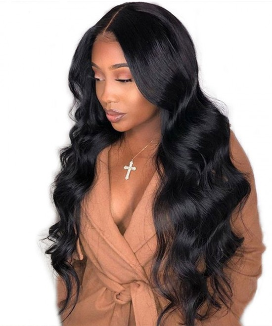 Dolago Lace Closure Wigs Body Wave 4X4 Part Lace Closure Wig With Baby Hair 250% Density No Need Glue Also Natural Looking