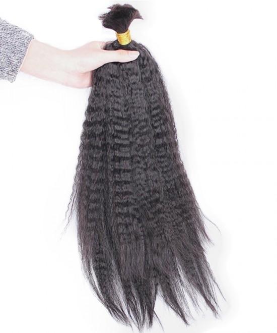Good Kinky Straight Bulk Human Hair Weave Bundles For Sale
