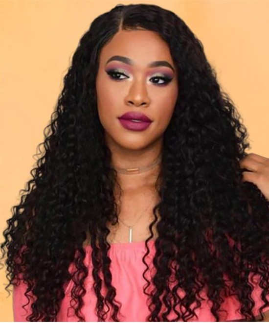 Dolago Hair Wigs Water Wave 360 Lace Frontal Human Hair Wigs For Black Women 150% Density Lace Front Human Virgin Hair Wigs With Baby Hair Pre Plucked