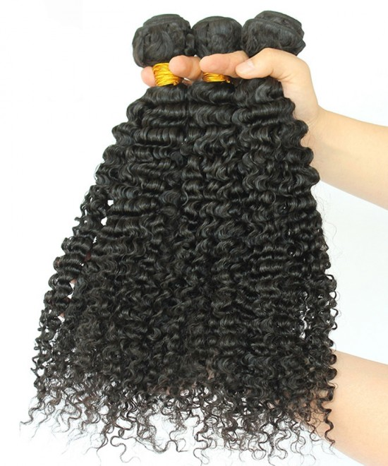 Dolago Peruvian Remy Hair Extensions 3B 3C Kinky Curly Human Hair Bundles 3 Pcs Peruvian Hair Weave Bundles 10-30 Inches Curly Hair Weave Bundles Sales