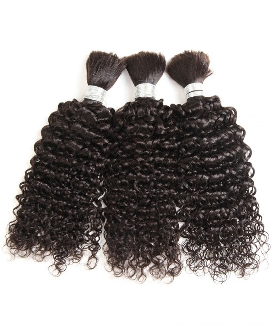Dolago Brazilian Human Hair Kinky Curly Hair Weave 3Pcs Hair Bulk