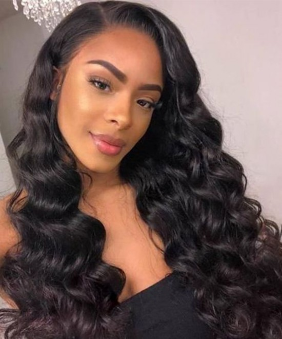 Dolago Flash Sale Wigs For Black Women 13x4 Lace Front Human Hair Wig Loose Wave 130% Density