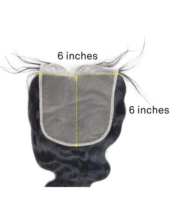 Dolago Brazilian Virgin Hair Loose Wave Human Hair Lace Closure 6x6 Lace Size