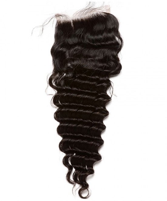 Dolago Brazilian Virgin Hair Deep Wave Human Hair Lace Closure 6x6 Lace Size