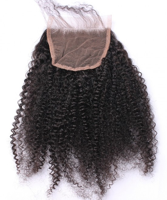 Dolago Brazilian Virgin Hair Afro Kinky Curly Human Hair Lace Closure 5x5 Lace Size