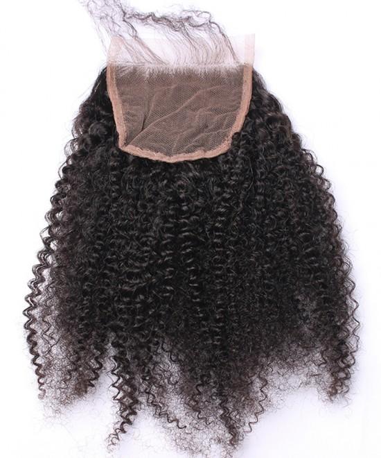 Dolago Brazilian Virgin Hair Afro Kinky Curly Human Hair Lace Closure 5x5 Lace Size