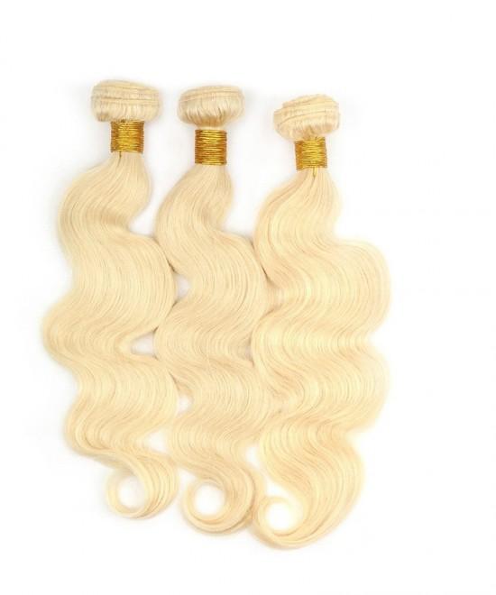 Flash Dolago Brazilian Body Wave Human Hair Weave Bundles 2 Pcs 613 Blonde Color