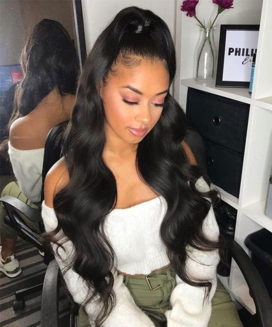 Dolago Wigs Silk Base Lace Front Human Hair Wigs For Black Women 130% Density Body Wave Silk Top Wigs 10-30 inches Realistic Wigs Pre Plucked With Baby Hair