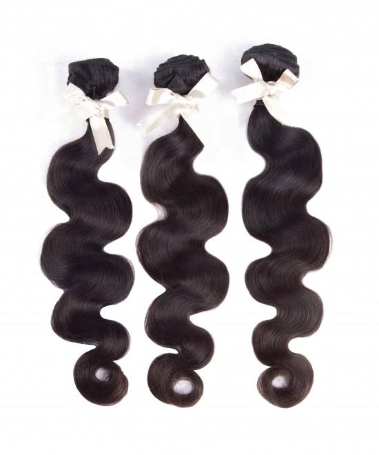 Dolago Peruvian Virgin Hair 3 Bundles Body Wave 100% Unprocessed Human Hair Weave