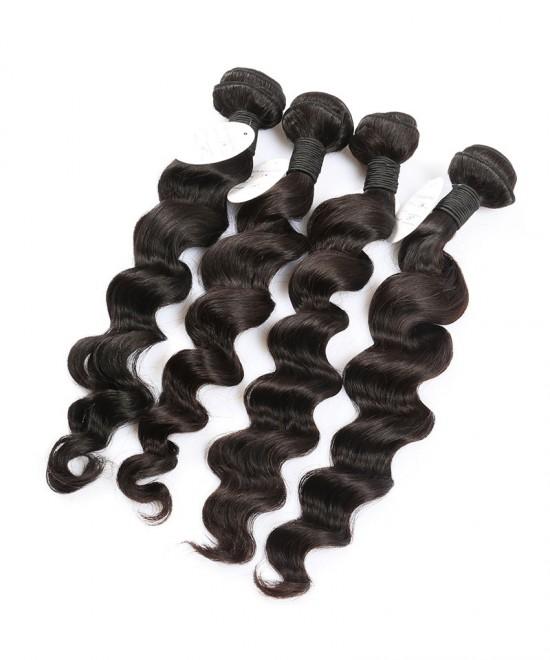 Dolago Loose Wave 100% Unprocessed Hair Extensions 3Pcs Brazilian Human Hair Weave Bundles
