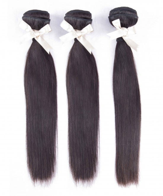 Dolago Peruvian Remy Human Hair Bundles Straight Human Hair Weaves Natural Color 3Pics Human Hair Extensions 10-30 Inches Bundles Sales