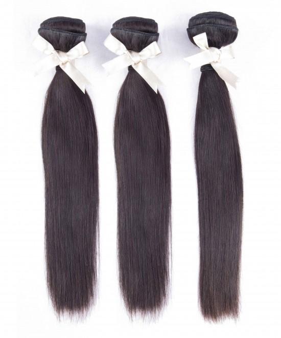 Dolago Mink Wholesale Hair Bundles Straight Wave Peruvian Human Virgin Hair Weaves 3Pics Straight Human Hair Extensions Natural Color Peruvian Bundles Sales
