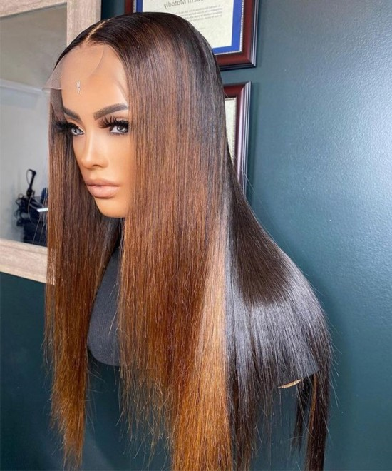 colorful ombre lace closure wigs for women for sale