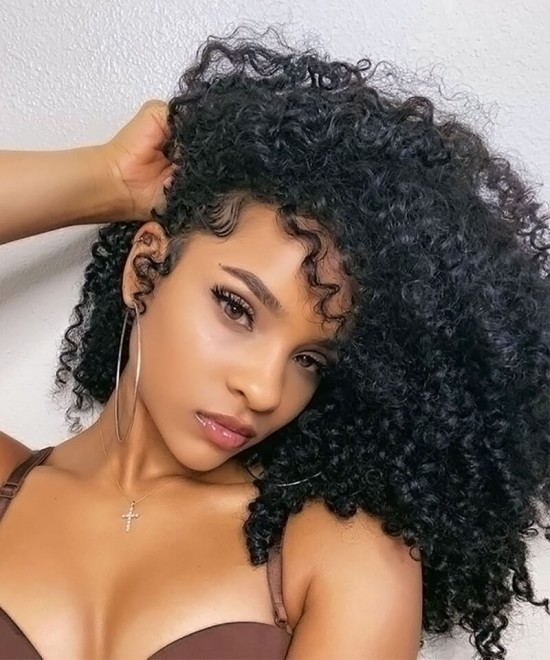 3B 3C Kinky curly hd transparent lace front wigs online for sale
