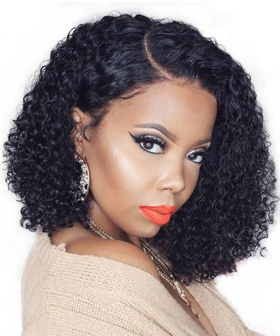 Dolago Hair Wigs 13x6 Lace Front Bob Wigs With Baby Hair 150% Density Curly Human Hair Wig For Black Women Pre Plucked